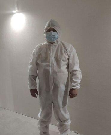 брендовые одежды в Кыргызстан: Одноразовый защитный костюм спанбонд!  В наличии есть :  60 гр  40 гр