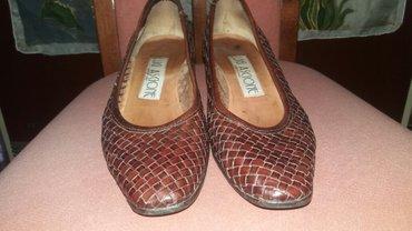 Italijanske cipele od prirodne koze broj 38 duzina gazista 24 stikla - Paracin