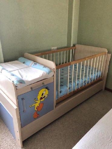 Детская кроватка, Belonna,Турция . С матрасом. Люлька с системой