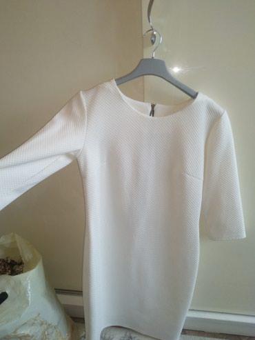 Красивое белое сильное платье,размер в Бишкек