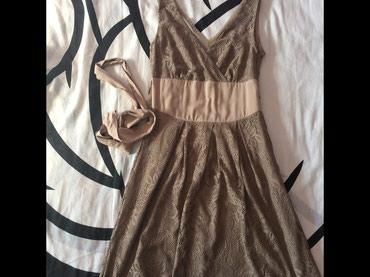 Cipkana haljinica marke Lila rose u krem-braon boji, ima pojas koji se - Novi Sad