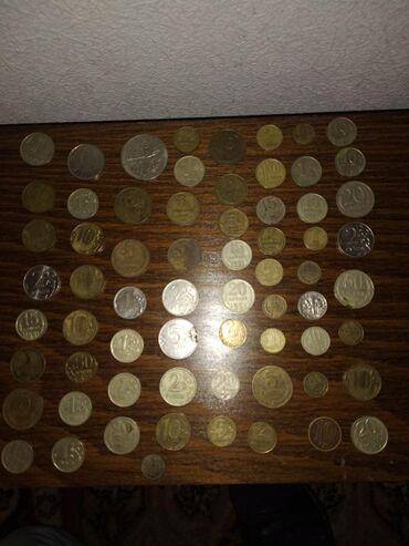 Монеты в Кант: Продаю много разнообразных монет, на фото все монеты если будут