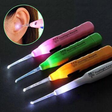 Ухочистка с фонариком предназначена для чистки ушей у детей, а также