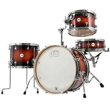 Μουσικά όργανα - Ελλαδα: DW DRUMS Design Series Frequent Flyer Drum Kit (Tobacco Burst)