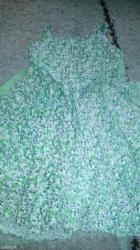 Bozanstvena letnja haljinica,zelena,velicina 6 duzina od vrha brtele - Pancevo