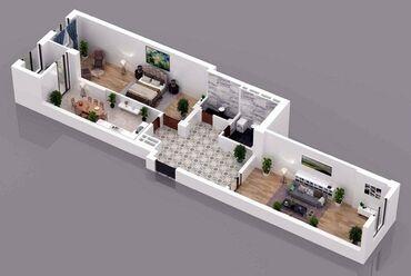 2 комнатные квартиры в бишкеке продажа в Кыргызстан: Элитка, 2 комнаты, 83 кв. м