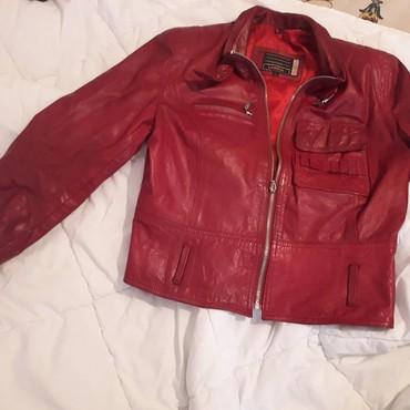 Jakna kozna crvena - Srbija: Nova lepo ocuvana kozna jakna