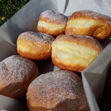 клубные дома в бишкеке в Кыргызстан: Новинка ! пончики берлинские с разными начинками ( вишня, клубника, шо