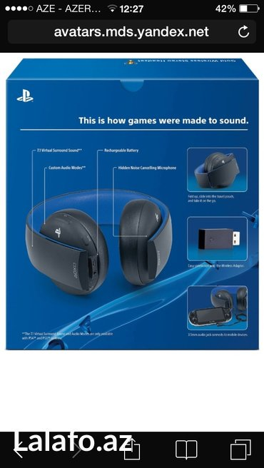 Bakı şəhərində Playstation gold wireless stereo headset,for ps4,ps3,pc,phone. Snursuz- şəkil 6
