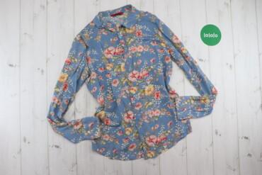 Рубашки и блузы - Цвет: Голубой - Киев: Жіноча сорочка у квітку Junker Jeans, р. S   Довжина: 64 см Ширина пле