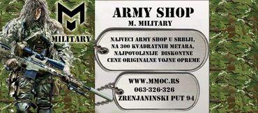 Army Shop, MMOC najvećem prodajnom salonu u Srbiji, možete pronaći