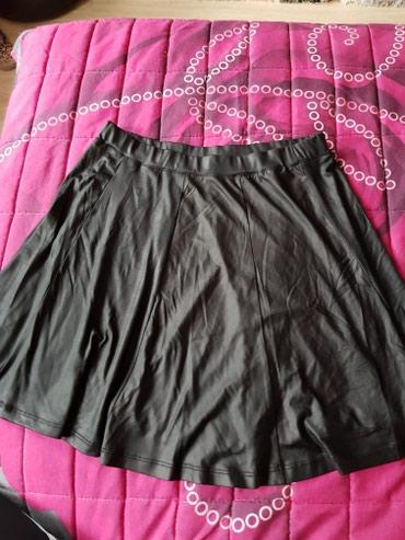 Crna kožna suknja veličina univerzalna - Odzaci