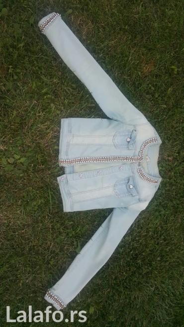 Pamuk-bebi-zute-boj - Srbija: Teksas jakna, velicina m, odlicnog kroja, kao nova, nezno zelene boj