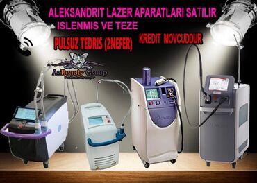 Aleksandrit lazer aparatlari her cur modelde yeni ve islenmis her cur