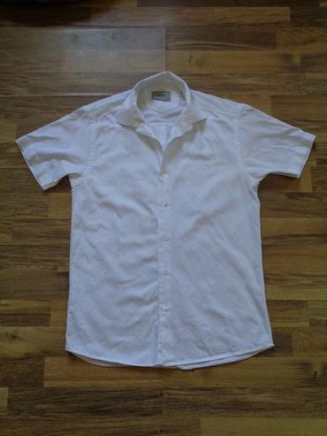 Белая рубашка с коротким рукавомна мальчика подростка или невысокого