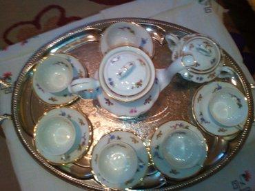 Komplet za kafu, tanak poljski porcelan, male solje, star vise od 50 - Pozarevac