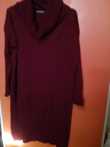 Bordo haljina tunika trikotaza tanji konac za punije dame sada - Arandjelovac