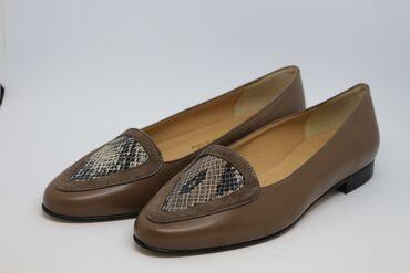 Женская обувь - Кыргызстан: Балетки коричневые натуральная кожа производство Италия