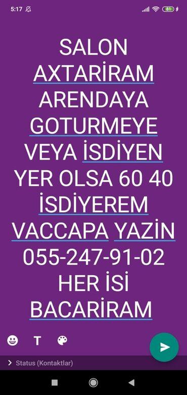 Xaricdə iş - Azərbaycan: Her iş bacarıram salon axtarıram ya 60_40 a isdiyim veya arendaya