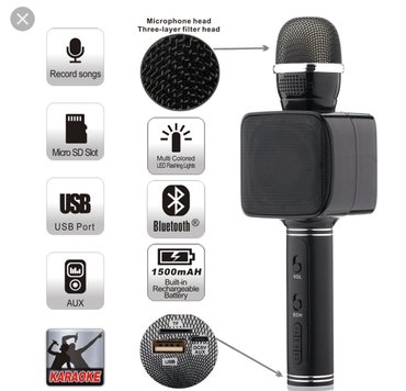 Magic karaoke - bluetooth mikrofon sa integrisanim zvucnikom - Beograd