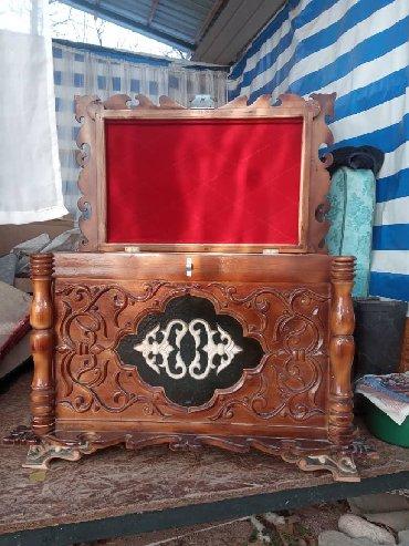 Декор для дома - Чолпон-Ата: Продается сундук 100%ручной работы, внутренняя часть отделана красным