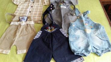 4 para pantalona na tregere za bebe od 6meseci(ocuvane)dva para imaju - Petrovac na Mlavi