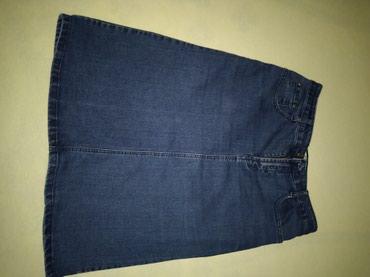 Klasična Teksas suknja do kolena,ima elastina - Vranje