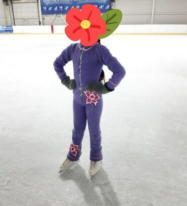 Детский мир - Кок-Джар: Плотный вязанный костюм для фигурного катания. Возраст 6-7-8 лет