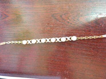 Браслеты - Б/у - Бишкек: Продаю золотой браслет с бриллиантами и жемчугами. Очень красивый