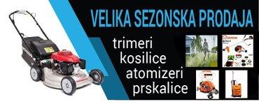 Velika sezonska prodaja kosilica,trimera,prskalica - Subotica