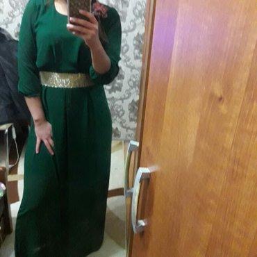 зеленые шузы в Кыргызстан: Продаю длинное платье, зеленого цвета шифон. нарядное! размер 44. 46 и