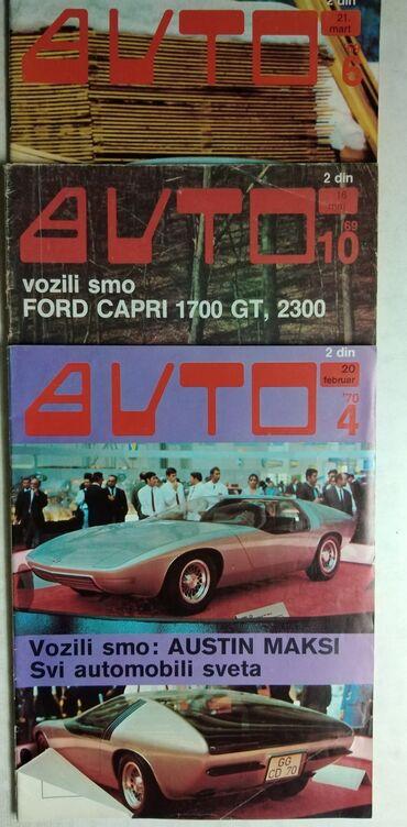 Dvd za auto - Srbija: Casopisi Auto 1969 i 1970.god.,Cena za kom