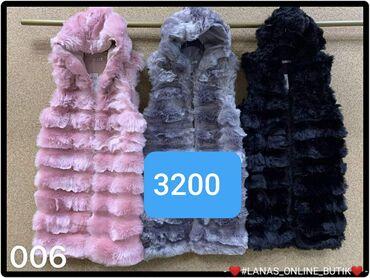 Krzneni prsluk Duzi.model S m l xl Nezno plava crna i roze