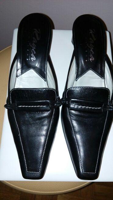 Elegantne kozne papuce crne boje.Kao nove! Broj 39