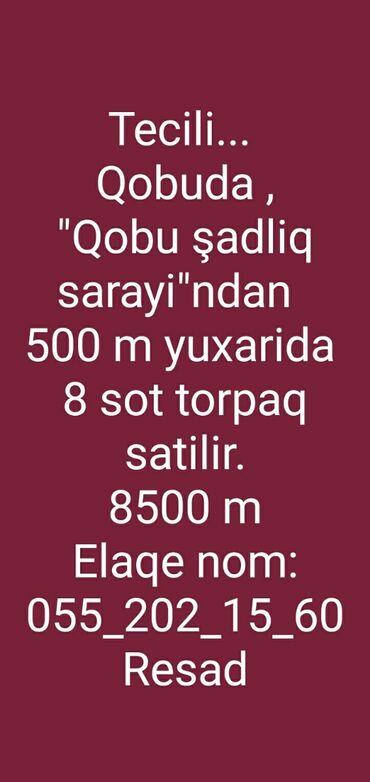 qobuda torpaq satilir - Azərbaycan: Satılır 8 sot Kənd təsərrüfatı mülkiyyətçidən