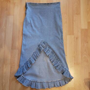 Teksas suknja - Srbija: Neobicna STAR teksas suknja, jako elastican materijal. Velicina pise M