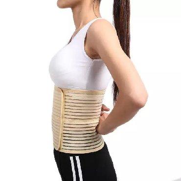 Бандаж поддерживает спину. Предотвращает парастомальную грыжу