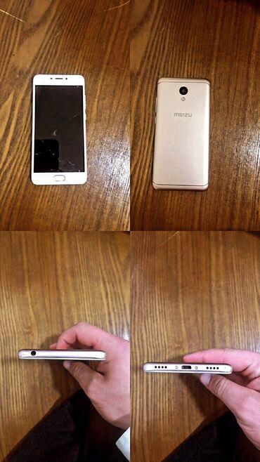meizu m6 синий в Кыргызстан: Продаю Meizu M6 16-gb 2-sim 4-G есть трещины на экране, но на работу н