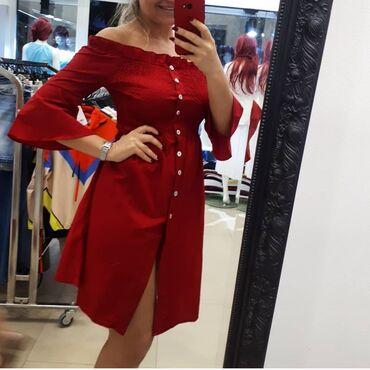 Nova zenska haljina 100%pamuk.Velicina m i l.Za vise informacija