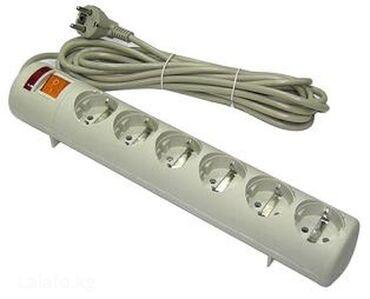 Сетевой фильтр питания Tripp-Lite длиной 3м, б/у- Кол-во розеток: 6 с