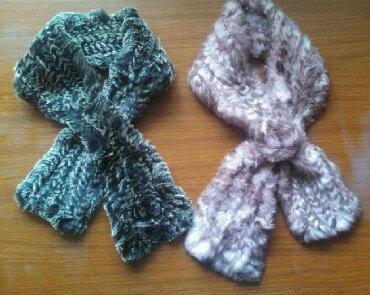 украшение шарфик в Кыргызстан: ОРИГИНАЛЬНЫЕ ШАРФИКИ! НАТУРАЛЬНЫЙ КРОЛИЧИЙ МЕХ (ПОЛОСКАМИ ВЯЗАНЫ)