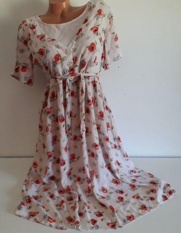 Haljine | Obrenovac: Lagana letnja haljina od indijskog platna vel oko LDimenzije:ledja 43