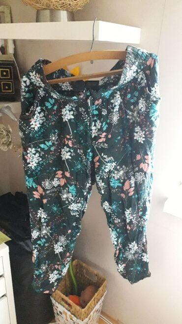 Lanene pantalone - Srbija: Lanene H&M 44 velicina tanane letnje pantalone