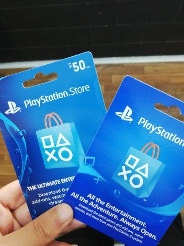 Bakı şəhərində Playstation 3-4 üçün store kartları satılır