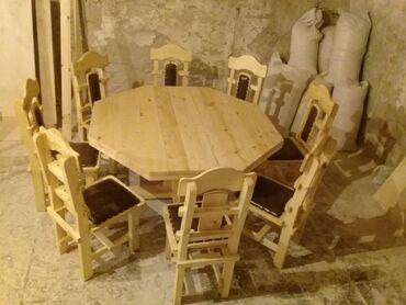 Bağ mebeli - Azərbaycan: 8neferlik masa ve oturacaqDiametri 150*150Hazirdi satilir 750 manat