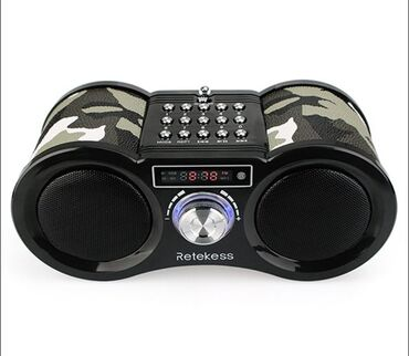 акустические системы polo колонка сумка в Кыргызстан: Retekess V113 FM-радиоприемник + МР3 портативная колонка с пультом упр