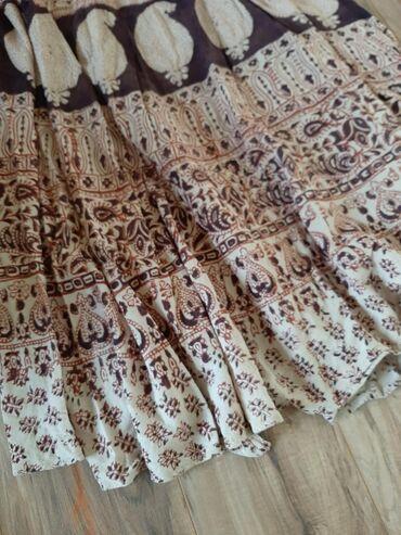Raskosna lanena dugacka suknja. Vel L/XL.Odgovara za obe veličine