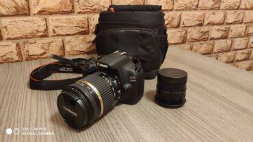 фотоаппарат canon 10d в Кыргызстан: Зеркальный полупрофессиональный аппарат CANON EOS 1200D. Отличный вари