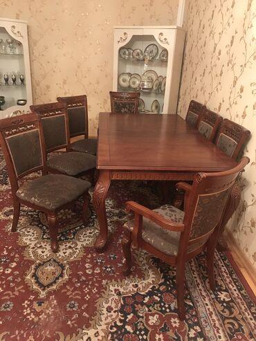 8 neferlik stol ve stul Turkiye istehsali  Gence seherindedir