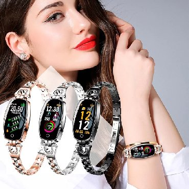 женские часы tissot оригинал в Кыргызстан: Женский фитнес-браслет Bakeey H8 + БЕСПЛАТНАЯ ДОСТАВКА ПО КРСтильный